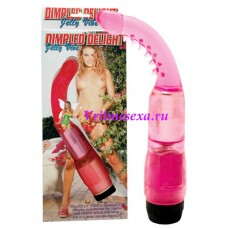 Вибратор анальный розовый 19 см