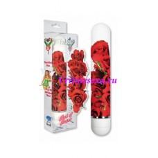 Вибратор белый с цветами