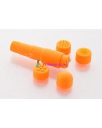 Вибратор с насадками 9,5см оранжевый