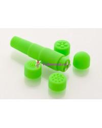 Вибратор с насадками 9,5см зеленый
