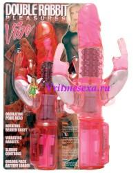 Вибратор с шариками красный 18,5 см