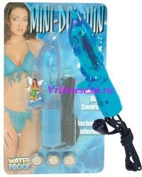 Вибратор дельфин 5,5 см голубой