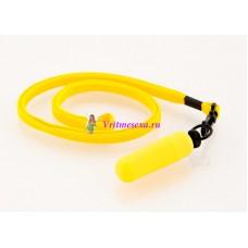 Вибратор-мини с ремешком на шею 6см желтый