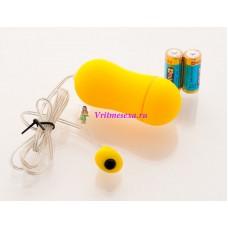 Виброяйцо 6,5см желтое