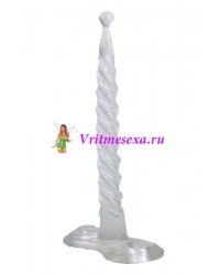 Втулка спираль силикон белая 15,2см