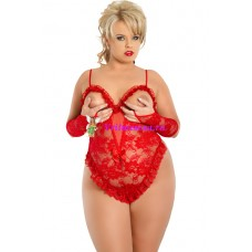 XL-Боди+перчатки красные