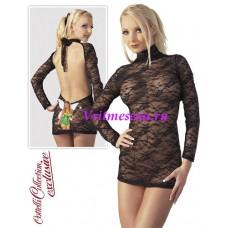 XL-Миниплатье  черное
