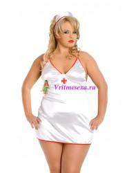 XXL-Костюм медсестры белый