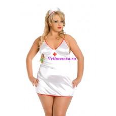 XXXL-Костюм медсестры белый