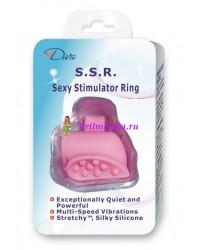 Клиторальный вибрастимулятор на палец розовый силикон