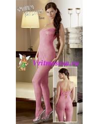 Костюм-сетка розовый-L/XL