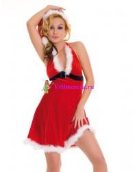 Новогоднее платье и шапочка S/L