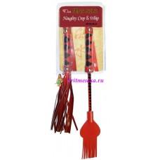 Плетка красная 37 см + стек красный 33 см