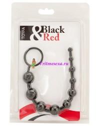 Шарики анальные цепочка 25 см черные