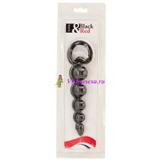 Шарики-цепочка анальные 13,5 см черные