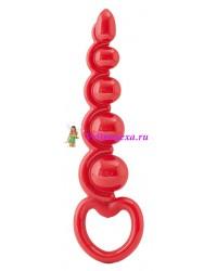 Шарики-цепочка анальные 13,5 см красные