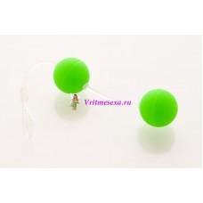 Шарики вагинальные 11см зеленые