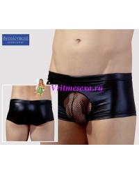 Шорты мужские с сеточной вставкой черные-XL