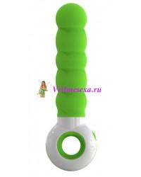 Вибратор O-zone зелено-белый