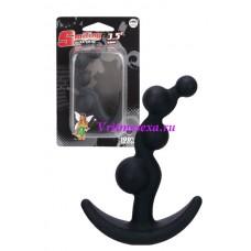 Втулка анальная черная 8,9 см силикон