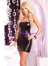 Платье без бретелей черное-S/M/L