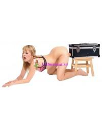 Секс-машина чемодан две сменные насадки+вибратор-язык