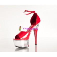 Туфли черные, красные