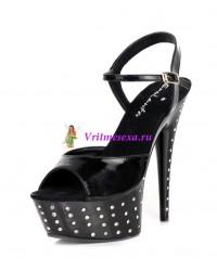 Туфли со стразами черные, белые